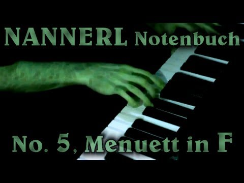ANONYMOUS: Menuett No. 5 in F major (Nannerl Notenbuch)