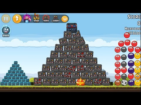 Red Ball 4 in Angry Ball - 9999 Angry Ball  Vs 9999 AlienBox