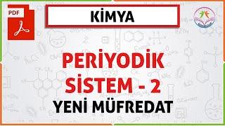 11 SINF PERİYODİK SİSTEM 2 (PERİYODİK ÖZELLİKLER)(YENİ MÜFREDAT)
