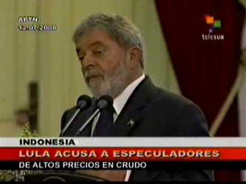 Lord Ivan Canas: President of Brasil Lula Da Silva Blames Hedge Funds for Oil Prices in Indonesia