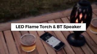 InnovaGoods Gadget Tech LED Flame Torch & BT Speaker