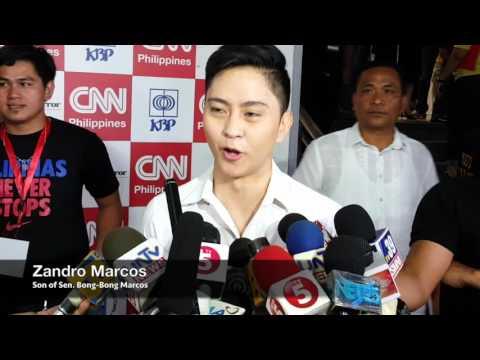 Zandro Marcos: My father will not resort to mudslinging