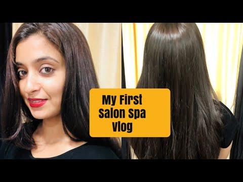 VLOG : My First Salon Hair Spa Visit | Hair Spa Step By Step | Hair Care