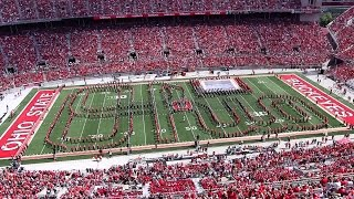 The Ohio State Marching Band Sept. 3 halftime show