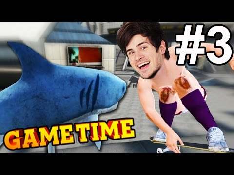 JUMPING THE SHARK IN SKATE 3 - PART 3 (Gametime w/ Smosh Games)