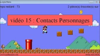 15 - Jeu Mario - Contacts personnages