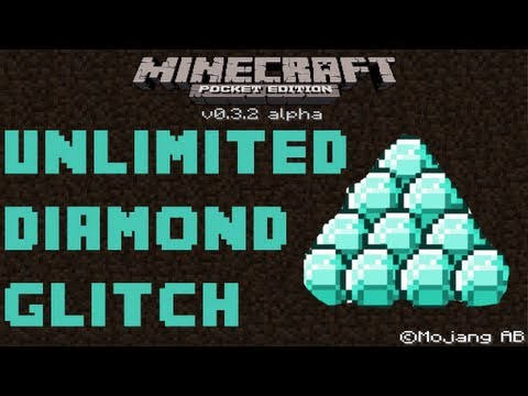 Minecraft Pocket Edition - Unlimited Diamonds. Iron and Gold Glitch iPod/iPad/iPhone/Android
