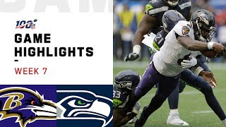 Ravens vs. Seahawks Week 7 Highlights  NFL 2019