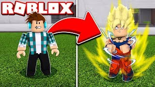 ME TRANSFORMEI NO GOKU DO DRAGON BALL Z NO ROBLOX !!