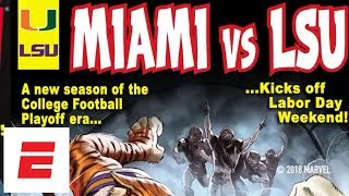 College Football Playoff & Marvel Comic Covers: Behind the Scenes Miami/LSU   ESPN