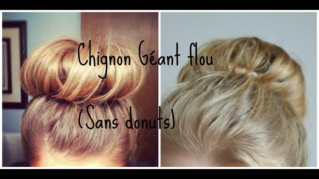 tutoriel coiffure #2 Chignon Bun (Sans donut) - YouTube