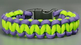 How to make Basic Cobra paracord bracelet with Buckles
