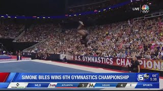 Simone Biles soars to 6th US gymnastics title