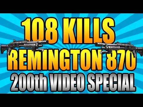 Black Ops 2: 108 Kills w/ Remington 870! : 200th Video Special! : Call Of Duty: Black Ops Gameplay