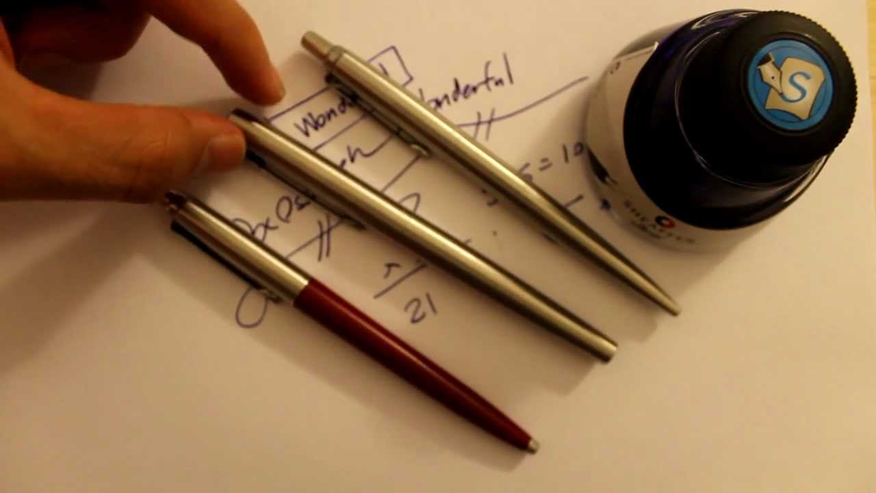 Parker Jotter Fountain Pen Review Youtube