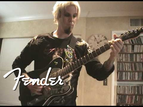 John 5 at home with his new Squier® model
