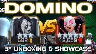 Domino Unboxing & Duel vs. Gwenpool (5* R5) w/ Tips | Marvel Contest of Champions