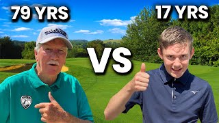 so what happens when an OLD GOLFER TAKES ON A YOUNG GOLFER ?