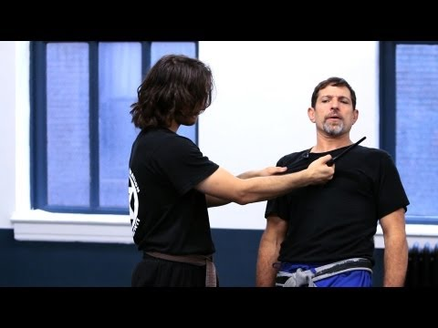 Krav Maga Defense against Knife Threat to Throat | Krav Maga Techniques Image 1