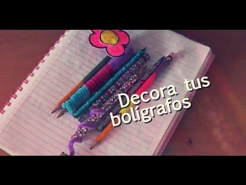 5 formas de decorar tus bol grafos diy youtube - Plumas para decorar ...