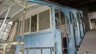 Standseilbahn Santa Margherita - Lanzo d'Intelvi Bergstation Werkstatt und Wagen 2015 - Funicolare