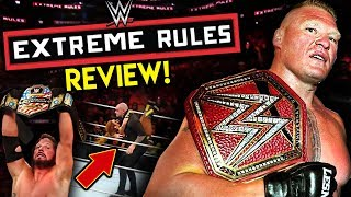 WWE Extreme Rules 2019 Review!