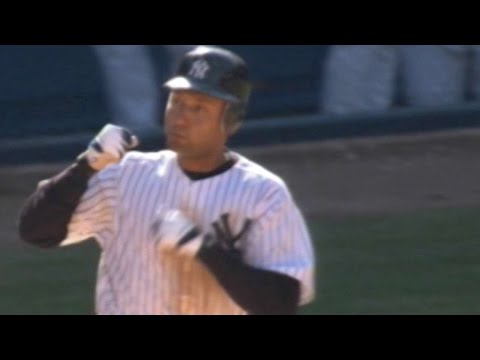 Jeter hits walk-off home run off of Foulke
