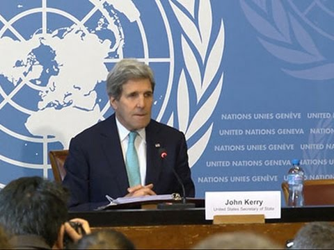 Kerry Talks Ukraine, Iran, Israel in Geneva