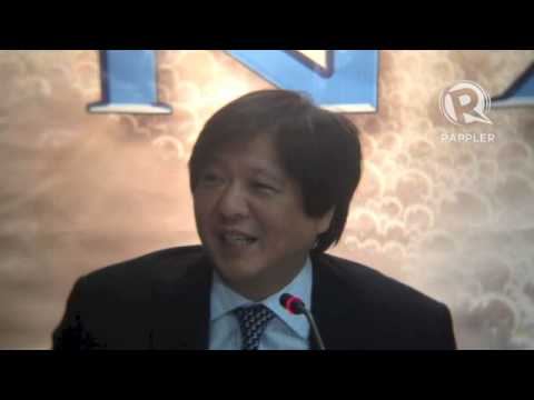 Bongbong Marcos for 2016?