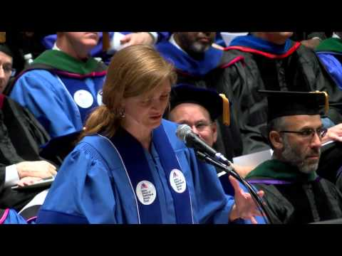 Commencement Address 2014 — Samantha Power, the U.S. Ambassador to the United Nations