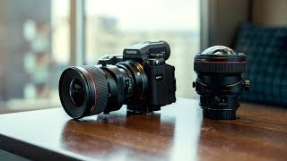 Fuji GFX With Techart Adapter and Canon Tilt Shift Lenses Review