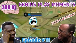 300 IQ Genius Plays Moments Episode # 11 Mobile Legends LUCU |WTF|Funny| OMG| (Smartest Plays)