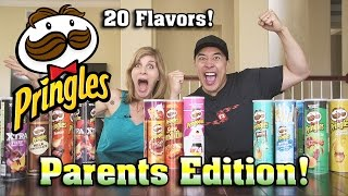 PRINGLES CHALLENGE Parents Edition!!! Can You Guess the Potato Chip Challenge!