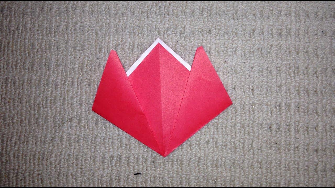 すべての折り紙 折り紙チューリップの折り方 : 折り紙 簡単 チューリップ 折り ...