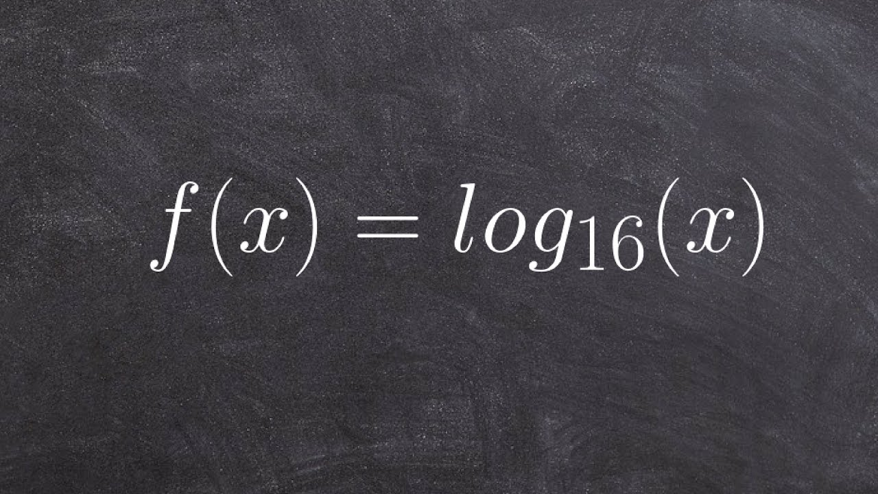 how to find exponent in logarithm