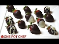 Easy Chocolate Dipped Strawberries | One Pot Chef