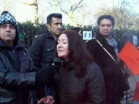 Maryam Namazie speech at Islamic regime's embassy on 22 Bahman