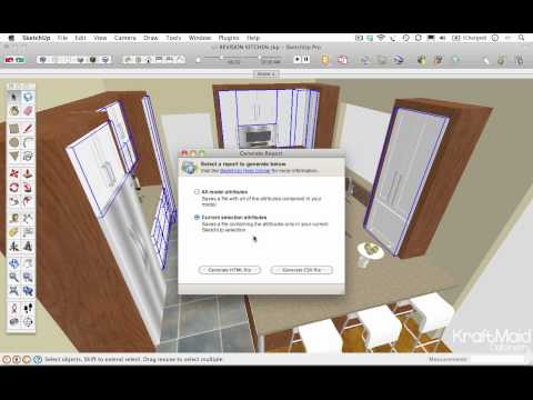 Generating Reports in Google SketchUp