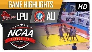 LPU vs. AU | NCAA 93 | MB Game Highlights | September 15, 2017