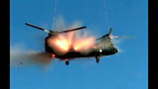 Chopper Explodes in Slow Motion