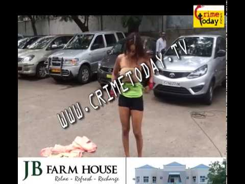 SRI REDDY PROTESTING HALF NAKED AT FILM CHAMBER