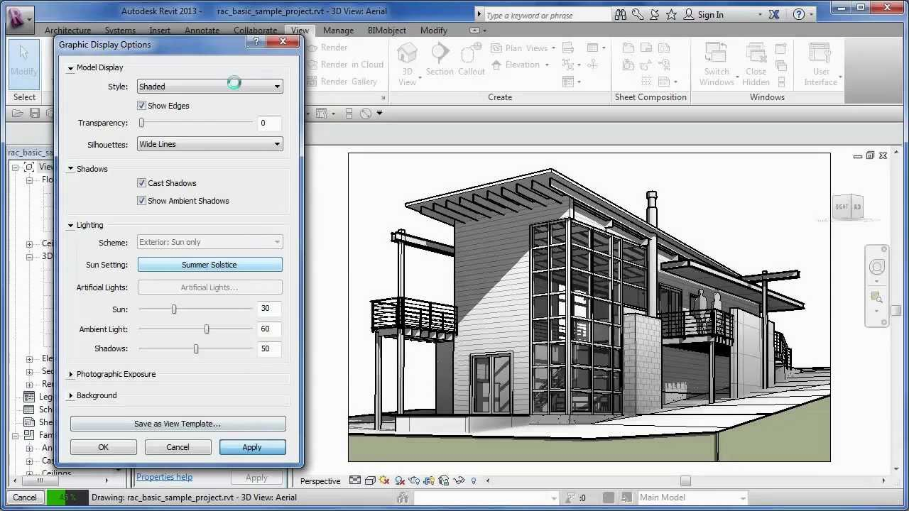 Cadclip Revit 2013 Graphic Display Options Youtube