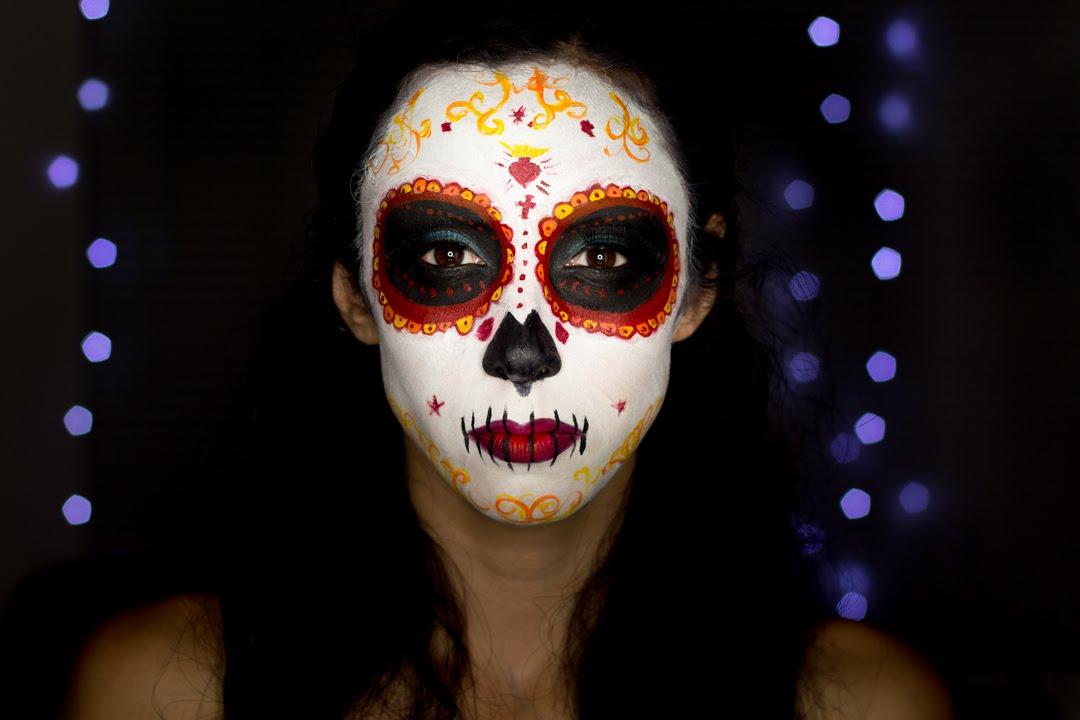 Movie Sugar Skull Makeup