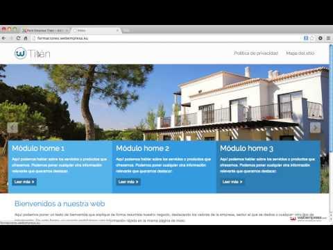 Packs Webempresa con framework Gantry: configurar menú principal