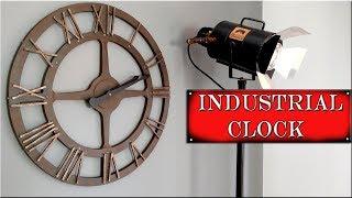 Como Hacer Reloj Industrial Efecto Metal. Decoración