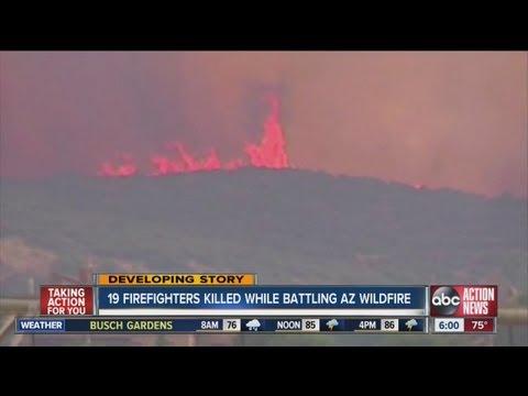 19 firefighters killed in Ariz. wildfire