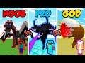 Minecraft NOOB vs. PRO vs. GOD: SUPER MOB BOSS BATTLE in Minecraft! (Animation)