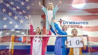 ULTIMATE FAMILY GYMNASTICS CHALLENGE! (WHO WILL WIN?!)