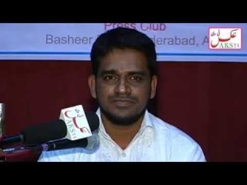 Aks Tv   MMB   Press Meet Question Mark on Zahid Ali Khan, Editor Siasat