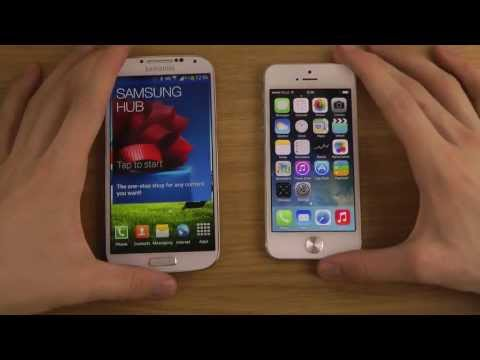 Samsung Galaxy S4 vs. iPhone 5 iOS 7 - Review